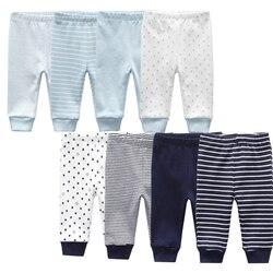 Leggings à rayures pour bébé, pantalon d'été pour nouveau-né, en coton, unisexe, pour garçon et fille de 3 à 12 mois, lot de 3 à 4 pièces