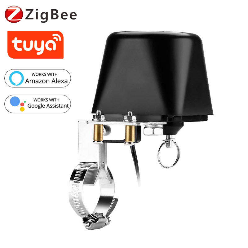 Tyua Zigbee Smart Valve Water/Gas Valve Controller Smart Home Automation Remote Control Work With Alexa Google Assistant