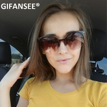 GIFANSEE Cat Eye Sunglasses Women Retro