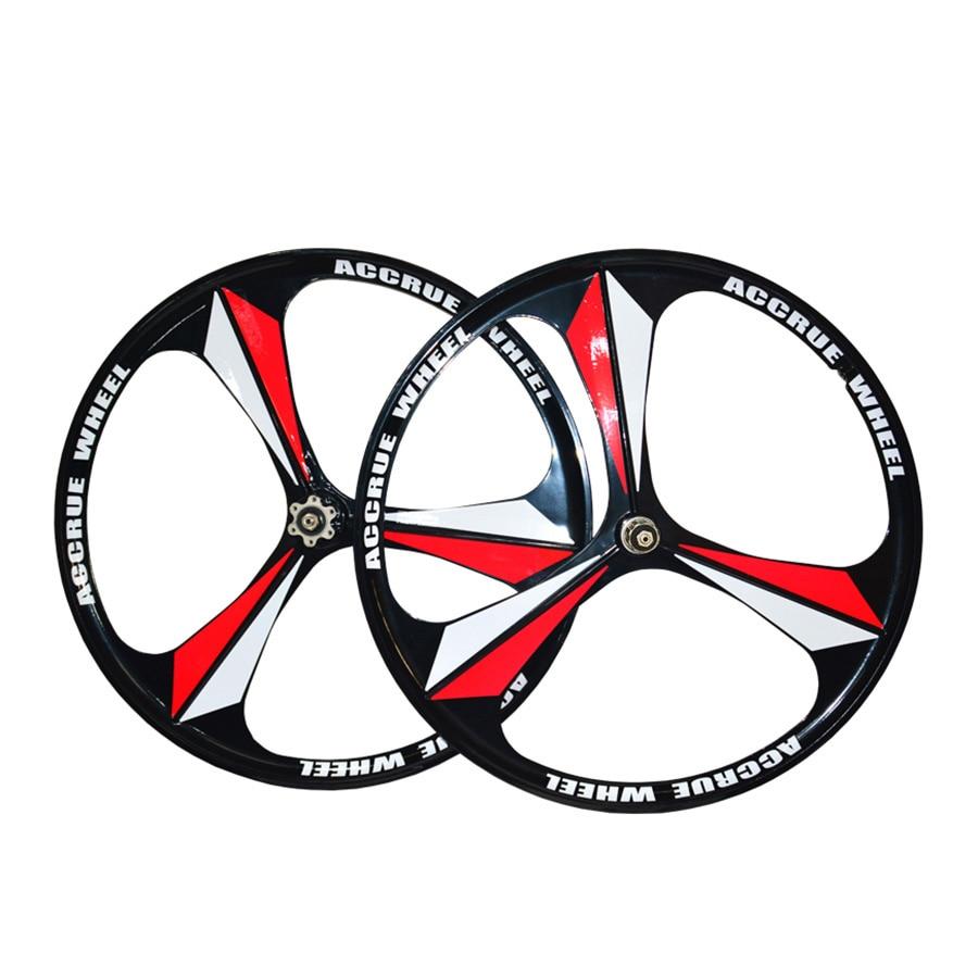 Mountain bike magnesium alloy wheel 26 inches 3 spokes Rorary wheelset Bicycle Wheel MTB bike Disc Brake rims