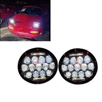 7inch 75W LED Headlight Car Led Driving Light Hi/Lo Beam DRL H4 H13 12V 6000K For Jeep Wrangler AM General Hummer