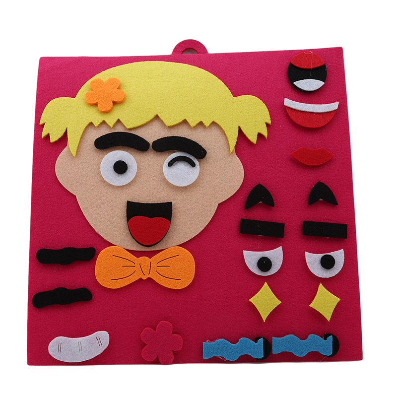Children Recognition Training Educational Toys DIY Assembling Puzzles Jigsaw  One Set  3D Parents And Kids Five Sense Organs