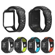 Замена дышащего браслетный ремешок для часов Силиконовый ремешок для Tomtom Runner 3/Adventurer/Golfer 2/Runner 2 Cardio/Spark 3