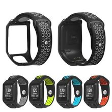 เปลี่ยน Breathable สร้อยข้อมือสายนาฬิกาสายรัดข้อมือซิลิโคนสำหรับ Tomtom Runner 3/นักผจญภัย/Golfer 2/Runner 2 cardio/Spark 3