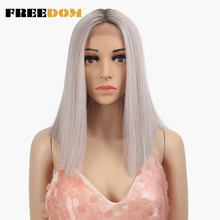 FREEDOM Straight Synthetic Hair Lace Front And T Part Wig 14