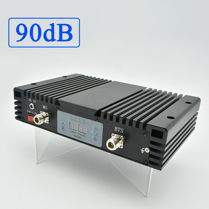 Lintratek GSM 900Mhz Repeater 90dB Booster 2W Signal Repeater GSM Amplifier AGC MGC High Gain 33dBm Signal Booster 900Mhz