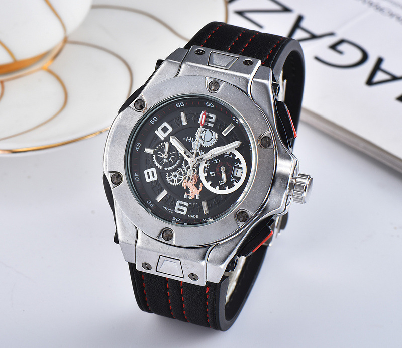 NEW HUBLOT Luxury Brand Quartz Mens Watches Quartz Watch Stainless Steel Strap  Men's Wristwatch Classic Business Dress  Watch