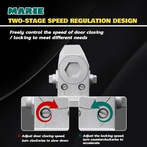 Image 3 - Серебряный гидравлический буферный дверной прибор для двери весом 25 45 кг, защита двери без позиционирования, контроллер двери, легкая установка, регулируемая скорость