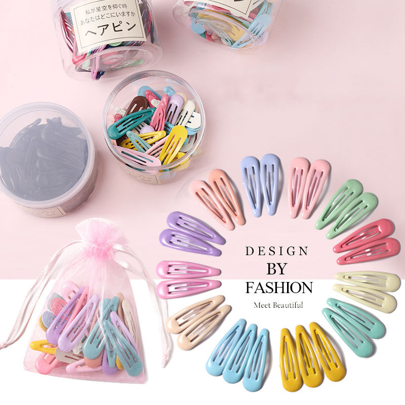 Hairpins Barrettes Hair-Accessories Slid-Clip Waterdrop-Shape Colorful Sweet Girls Fashion