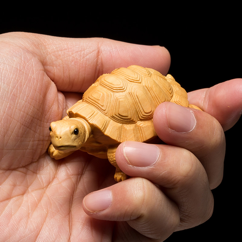 6-9 Cm Turtle Boxwood Statue Money Turtle Lucky Pendant Feng Shui Animal Mascot Sculpture Home Decor