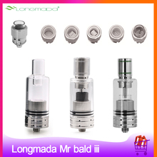 Original Longmada Mr bald iii Atomizer Ceramic Heating Coil Chamber 510 Tank Replaceable Coil For Dry Herb wax Vape Mod