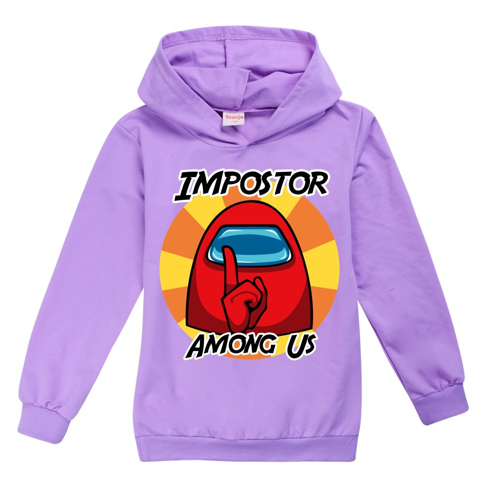 Halloween Clothes Girls Impostor Among Us Crewmate Toddler Girl Fall Clothes 2020 Boy Hooded Boutique Kids Clothing Baby Tops 2