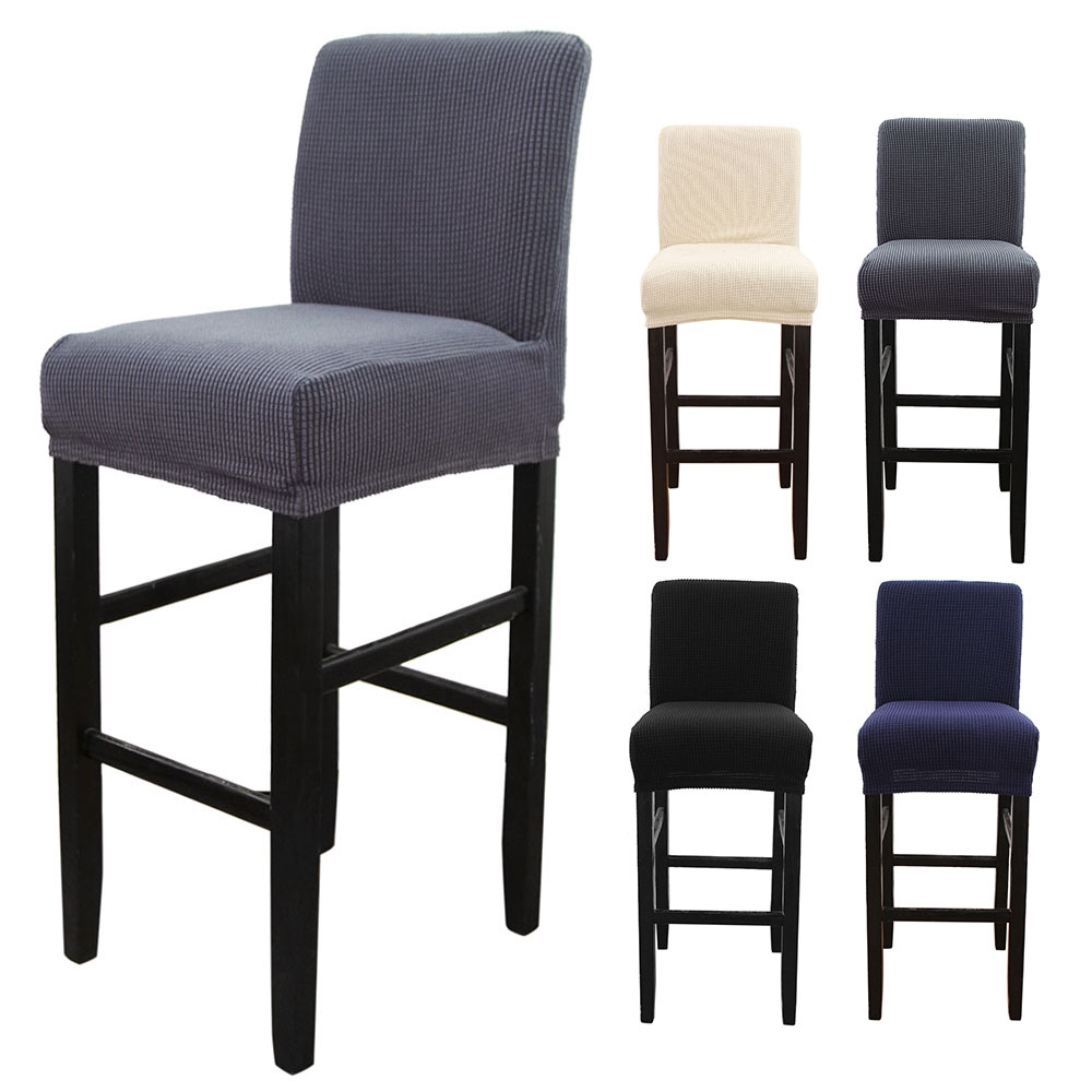 1pc Spandex Polyester Chair Cover Solid Seat Covers For Bar Stool Chairs Slipcover Home Hotel Banquet Dining Chair Decoration