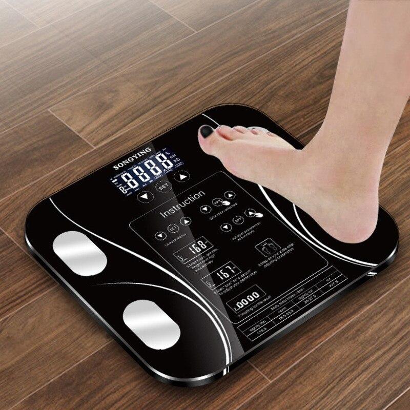 Heißer Bad Körper Fett b mi Skala Digital Menschlichen Gewicht mi Waagen Boden lcd display Körper Index Elektronische Smart Wiegen waagen