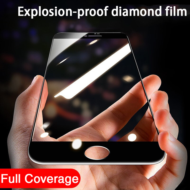3PCS Full Cover Protective glass on For iphone 7 8 tempered Glass Film On iPhone 6 6s Plus SE 2020 Screen Protector Curved Edge 2