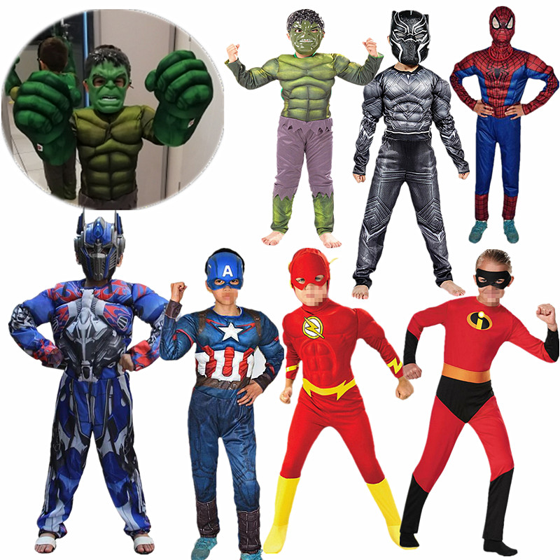 Best-selling Children Superhero Muscle Anime Costume Boys and Girls Gloves Props Halloween Cosplay Fantasy Costumes 1