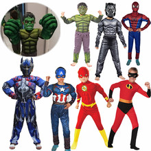 Best-selling Children Superhero Muscle Anime Costume Boys and Girls Gloves Props Halloween Cosplay Fantasy Costumes