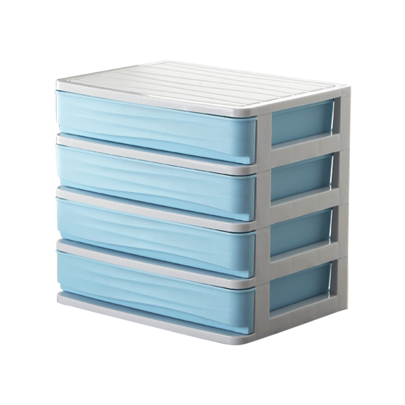Big deal Cosmetic Organizer Makeup Storage Beauty Make Up Drawers Cosmetic Box  Blue 4 Layer|Makeup Organizers| |  - title=