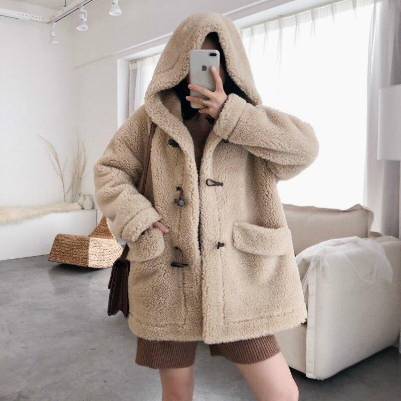 Real Fur Coat Wool Jacket Autumn Winter Coat Women Clothes 2020 Streetwear Korean Vintage Tops Sheep Shearling Abrigo Mujer