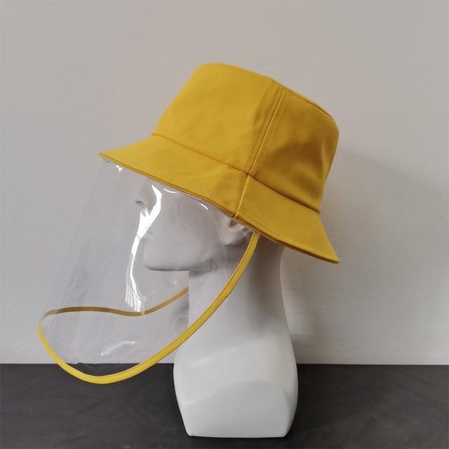 Virus Protective Face Shield Mask Cover Hat Anti Spitting Saliva Drool Fisherman Cap Clear Facial Mask Splash Anti-Fog Anti-Oil 4