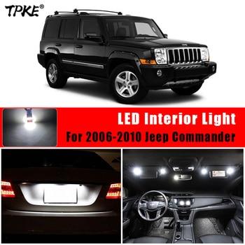 TPKE 13X xenón blanco luz Led COCHE Kit de paquete de interiores para el 2006-2010 Jeep comandante mapa cúpula para maletero o matrícula de luz