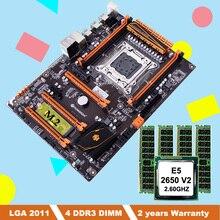 Rabatt motherboard mit M.2 slot HUANANZHI deluxe X79 motherboard bundle mit CPU Intel Xeon E5 2650 V2 RAM 32G (4*8G) REG ECC
