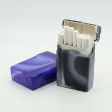 1 шт пластиковый чехол для сигарет переносная коробка 20 емкостей
