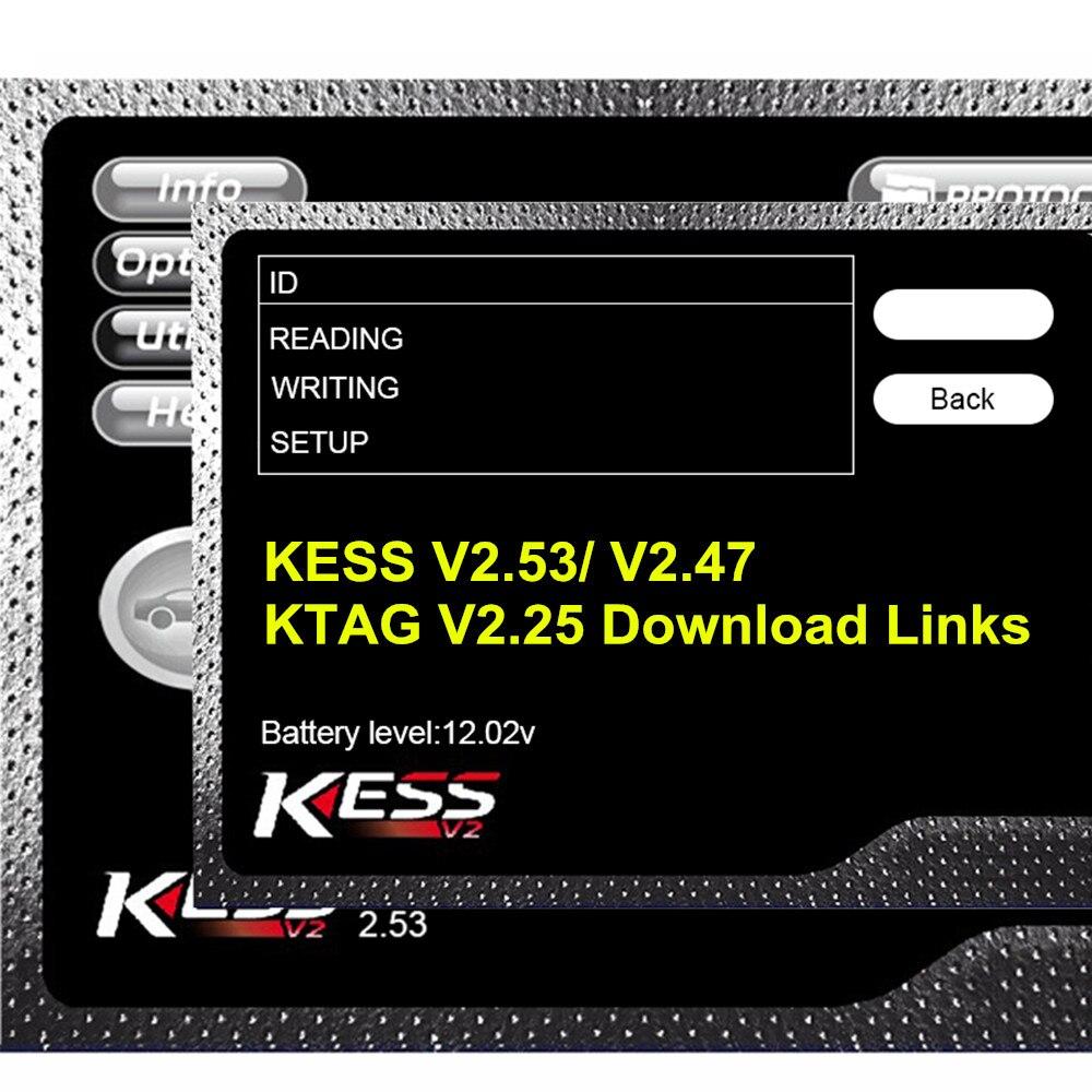 2020 recién KESS V2.53 Ksuite 2,53 2,47 Ktag V2.25 Software enlaces de descarga para KESS V2 V5.017 KTAG V7.020 KESS V2.47 K-etiqueta 2,25