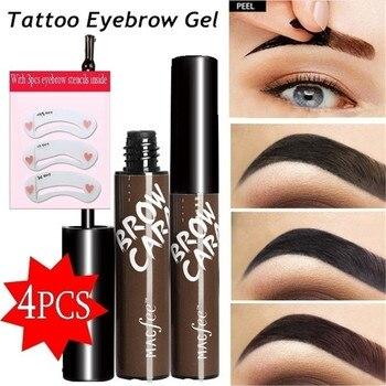 4Pcs/Set EyeBrow Gel Tattoo Tint Waterproof Peel Off Eye Brow Pomade Long-lasting Dye Eyebrow Makeup Cosmetics