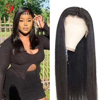 Peruvian Straight Hair Wig 13x4 Lace Front Wigs Pre Plucked Remy Human Hair Wig For Women 4x4 Lace Closure Wigs 150 180 Density straight human hair wigs pre plucked peruvian 13x4 lace front wig 150 dens middle part remy lace front human hair wigs for women