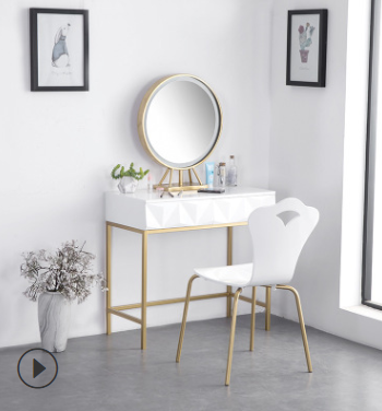 Bedroom Furniture Dresser With Mirror And Stool Golden Iron Dressing Room Princess Vanity Mirror Stool Combination Furniture Aliexpress