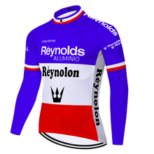 Team retro cycling jersey reynolds summer spring quick dry bike shirt Men long sleeve abbigliamento bici da corsa uomo