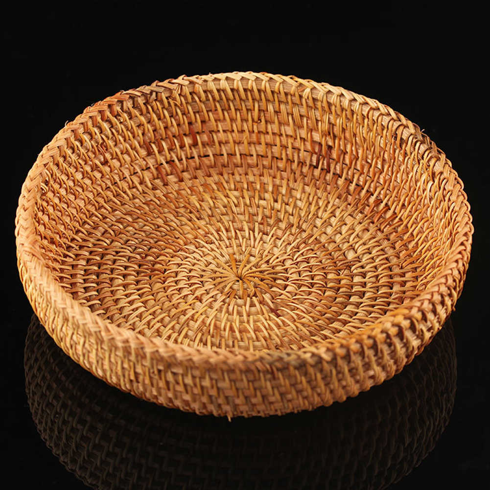 Кухонный ротанговый Плетеный твердый Органайзер корзины ручной работы для