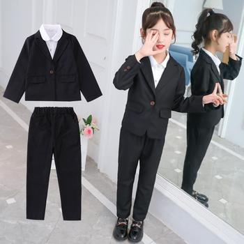 2020 Spring Autumn Fashion Kids Formal Suit For Girls Slim Pant Suits For  Teenagers 3PCS Blazer Shirt Pants Sets Solid Suit K243 - buy at the price  of $36.47 in aliexpress.com | imall.com