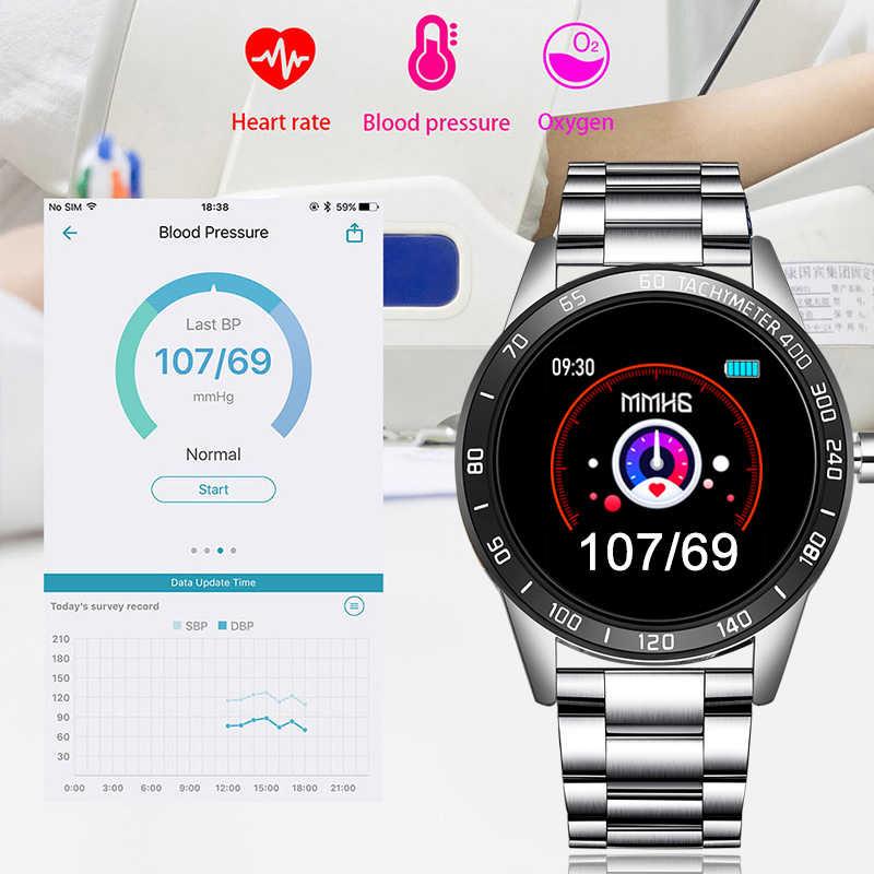 LIGE yeni çelik kemer akıllı saat erkekler kalp hızı kan basıncı çok fonksiyonlu monitör pedometre spor IP67 su geçirmez Smartwatch