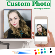 Frameless Photo Customized DIY Painting By Numbers