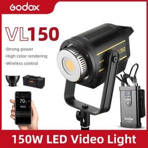 Image 1 - Светодиодная лампа для видеосъемки Godox VL150, 150 Вт, 5600K, белая версия, непрерывный выход, крепление Bowens, студийное освещение, Поддержка приложения