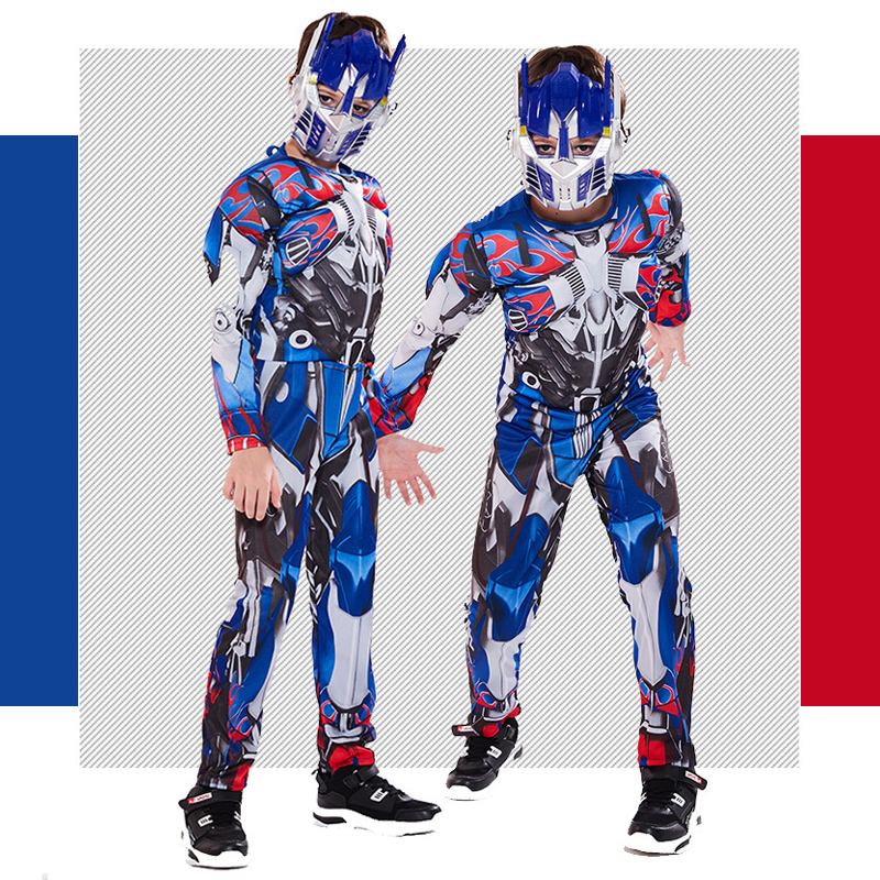 Cosplay Costume Transformers Muscle-Suit Movie Superhero Anime Halloween Kids Optimus Prime