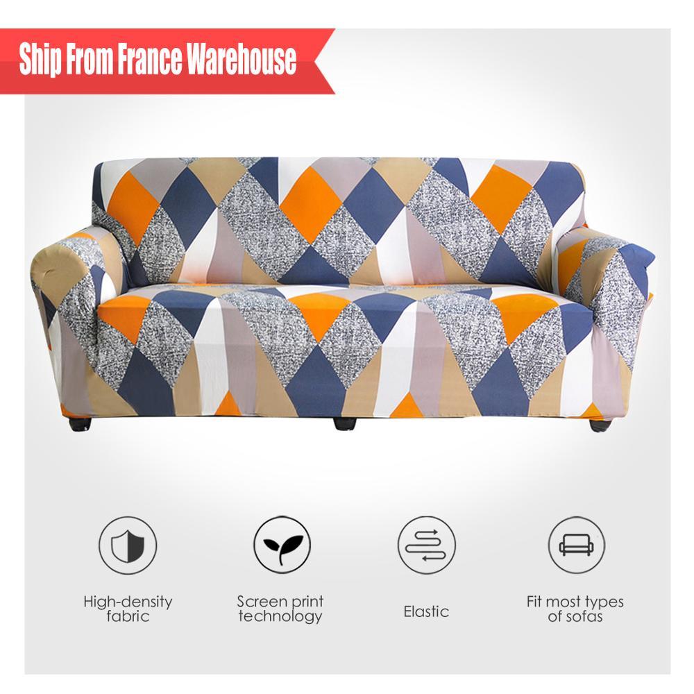 Elastic-Sofa-Cover Chair-Protector Corner Sofa Geometric Living-Room Sectional Modern