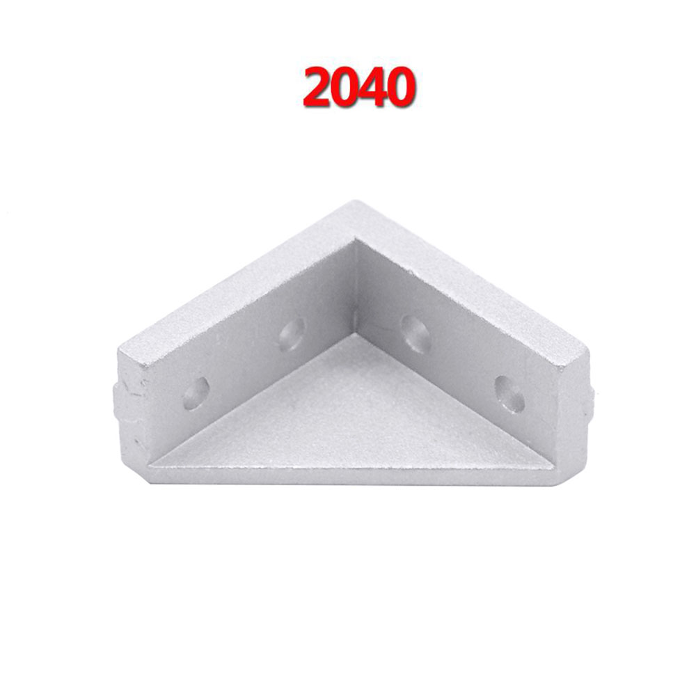 5pcs/lot 2040 Corner Fitting Angle Aluminum 20 x 40 L Connector Bracket Fastener Match Use 2040 Industrial Aluminum Profile