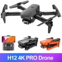 Mini Drone professionale H12 4K con videocamera RC Quadcopter FPV Wifi 20 minuti volo doppia fotocamera VS KY905 Hj78 F86 Drone elicottero