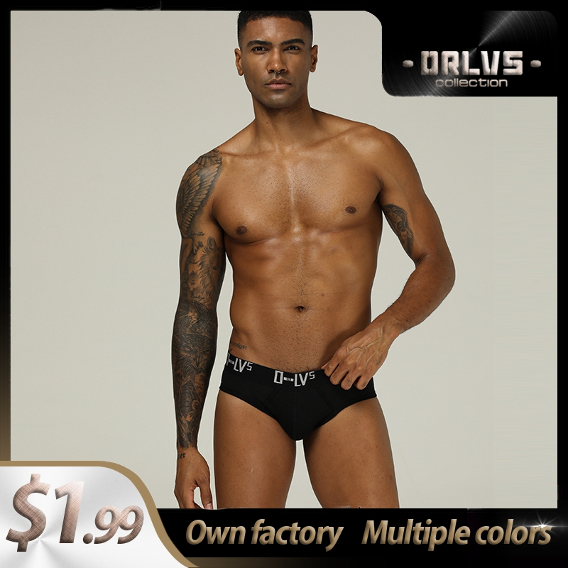 Cotton Low Waist Mens Briefs Underwear Shorts Ins Style Solid Mens Panties Sexy Gay Men Underwear Bikini Men Briefs Sexi OR209