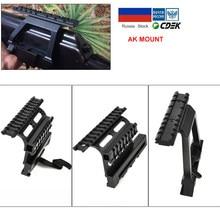 AK47 AK74 SAIGA Picatinny Weaver mocowanie boczne szyna szybka QD 20mm picatinny odłącz dwustronnie AK celownik uchwyt mocujący karabin