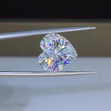 Poetry Of Jew Store Heart Moissanite 1.00ct D VVS barestone custom Moissanite ring Pendants for naked diamond