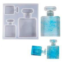 Модная 3d бутылка для духов силиконовая зеркальная форма Прозрачная