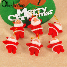 Obedience Christmas ornaments Christmas tree ornaments Red little old man hangings Christmas gifts a package of 6 4 section little train christmas ornaments
