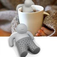 Silicone Tea Strainer Interesting Life Partner Cute Mister pot MR Little Man People   Infuser Filter Brewing Making pot|Tea Strainers| |  -