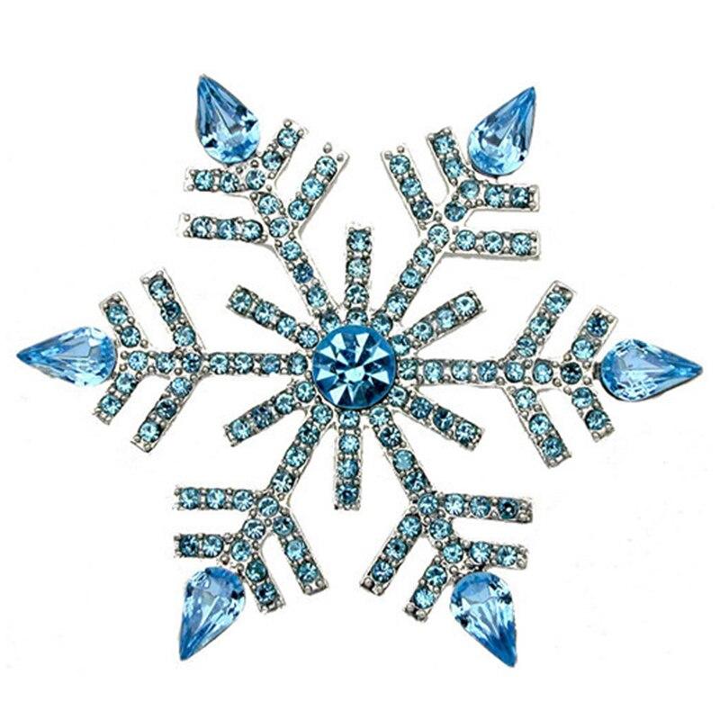 Antiguo Plata Cristal Diamante Brillo Aretes Navidad Mujeres Copo De Nieve