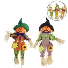 3 pack Pumpkin Halloween Fall Harvest Scarecrow for Garden Home Yard Decor Drop Shipping Wholesale(China)