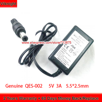 Genuine QES-002 SWITCHING POWER Adapter 5V 3A 5.5*2.5mm Laptop Charger for JCV Power Supply genuine adp 150vb b 19 5v 7 7a 150w laptop adapter power supply for msi gs60 ghost pro 606 gs70 stealth 2pe 430au ge62 adapter